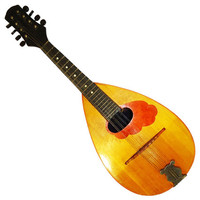 Antique Ukrainian Guitar Mandolin 8 Strings, Original Folk Musical Instrument, 428