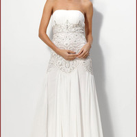 Sue Wong N1114 White Wedding Dress or Evening Gown