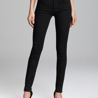 7 For All Mankind Jeans - 2nd Skin Slim Illusion Skinny in Elasticity Black