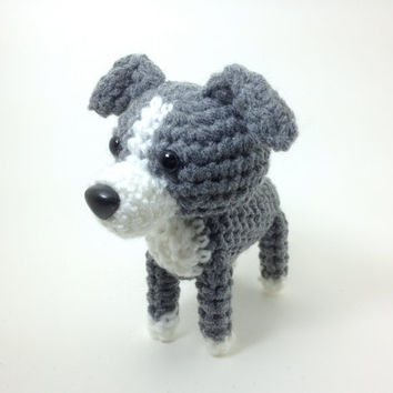 Italian Greyhound Amigurumi Dog Crochet Dog Stuffed Animal / Made to Order