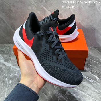 HCXX N1398 Nike Air Zoom Vomero W6 Sports Running Shoes Black red white