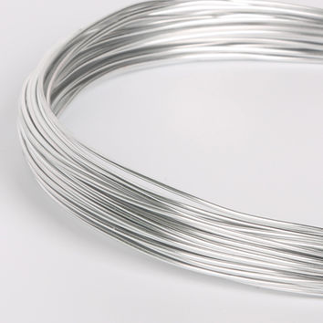 Soft Round Aluminum Metal Wire Anodized Versatile Painted Silver Dia 1/1.5/2/2.5mm DIY Jewelry Floristry Findings Craft Making