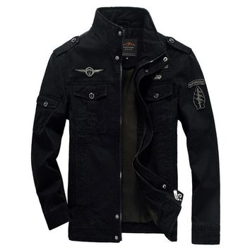 Men Jacket Winter Military Army bomber