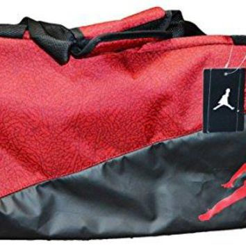 Nike Jumpman Jordan Duffel Bag (Red and Black with Red Logo)