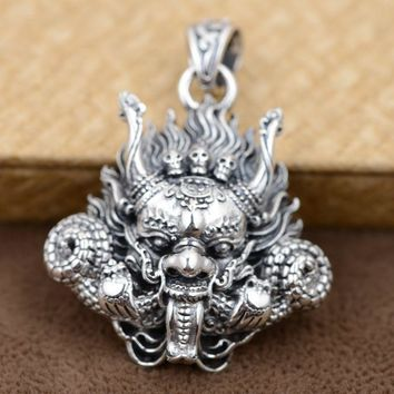 Sterling Silver Skull Pendants Best sterling silver skull pendant products on wanelo 925 sterling silver pendant antique style dragon head with skulls audiocablefo