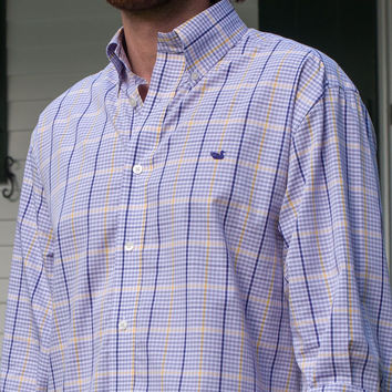 The Upperline Grid - Wrinkle Free - Collegiate - LSU