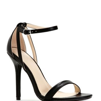 Sale- Black Staple Ankle Strap Heels