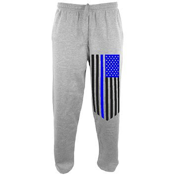 Blue Lives Matter Thin Line Flag Mens Sweatpants
