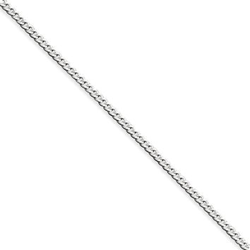 3mm Sterling Silver, Solid Curb Chain Necklace