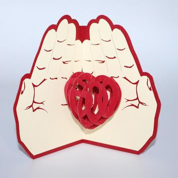 Valentines Day 3D Greeting Card