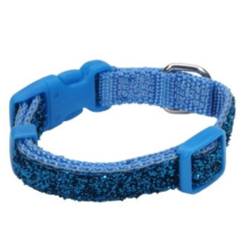 COASTAL PET PRODUCTS, INC. 6234 08 Buz 3/8 Collar - Blue Sparkle Lil Pals DOG COLLARS & LEADS - NYLON - DOG PRODUCTS