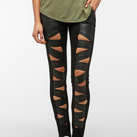 Urban Outfitters - Tripp NYC Faux Leather Z-Cut Jean