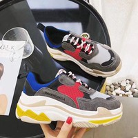 Balenciaga Woman Men Fashion Breathable Sneakers Running Shoes