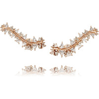 Fernando Jorge - Fusion 18-karat rose gold, topaz and diamond ear cuffs