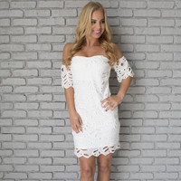 Love Lust Dress In White