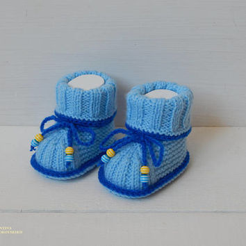 Knitted baby booties - baby booties - pregnancy announcement ideas - baby hospital outfit - exclusive72 - newborn boy outfit -