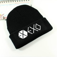Kpop EXO Beanie Hat Knit Cap SKI Baekhyun Chanyeol Winter Constellation