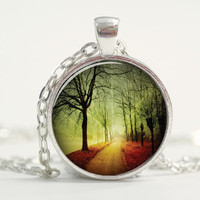 Pendant with Chain - A road into the forest
