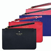 Kate Spade Fashion Simple Zipper Wrist Bag Handbag Wallet Black (22 Color)