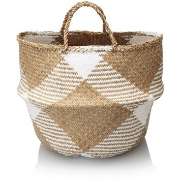 White Sea Grass Storage Basket - New - Oliver Bonas