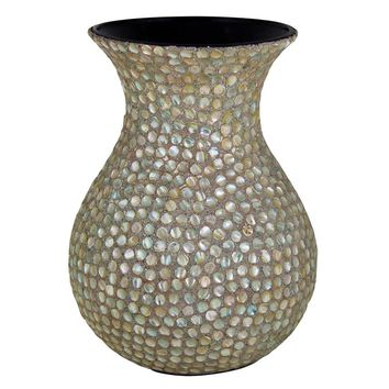 Innovatively Designed Mother Of Pearl Encrusted Vase