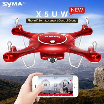SYMA X5UW FPV RC Drone With 720P WiFi Camera 2.4G 4CH 6Axis Quadcopter Helicopter Height Hold One Key Land UFO Toys