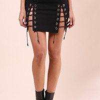 Brooklyn Karma Double Cross Me Mini Skirt
