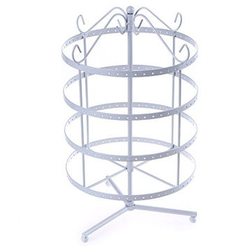 Songmics 4 Tiers Rotating Spin Table 192 Earring Organizer, Jewelry Display Stand UJDS055