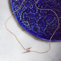 Free People Lightning Bolt Sapphire Necklace