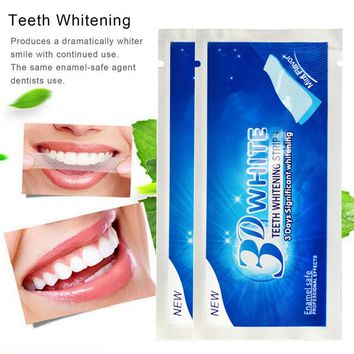 3D White Gel Teeth Whitening Strips Tooth Dental Kit Tooth Bleaching Whiter Strips Essentials of life Oral Hygiene Care TSLM2