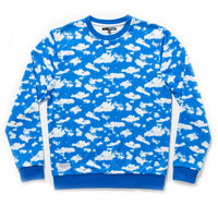Quiet Life: Clouds Crewneck Sweatshirt - Blue