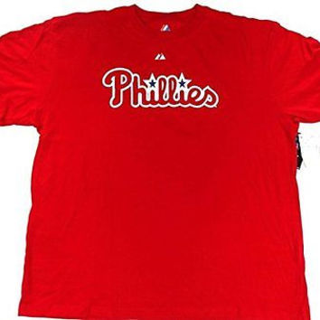 Philadelphia Phillies Majestic Jimmy Rollins #11 T Shirt Size 3XL