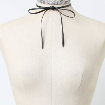 LA Hearts Bow Faux Diamond Choker Set at PacSun.com
