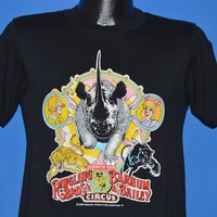 80s Ringling Brothers Circus Rhino t-shirt Small