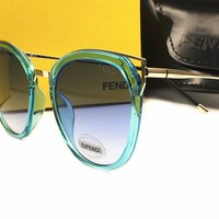 Fendi Authentic Sunglasses FF0240/S Azure w/Dark Grey Gradient Lens MVU08 FF 0240/S F0240/S FF0240S F0240S (47mm)
