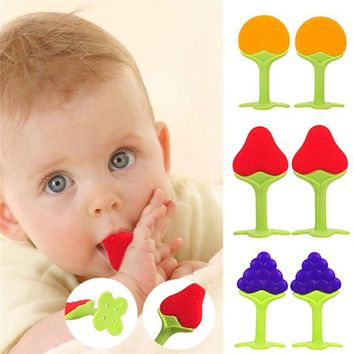 Fruit Shape Style Silicone Teether Baby Dental Care Toys