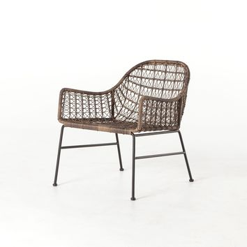 CONNOR OUTDOOR WOVEN CLUB CHAIR - DISTRESSED GREY