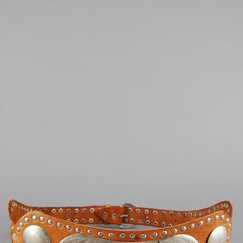 Golden Years Moroccan Studded Leather Belt