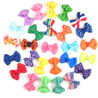 8 Dog Bows - Choose any 8 from over 100 colors and Prints - Yorkie Shih Tzu Maltese - Medium Dog Hair Bows