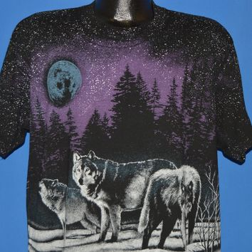 90s Wolf Pack Full Moon All Over Print t-shirt Extra Large
