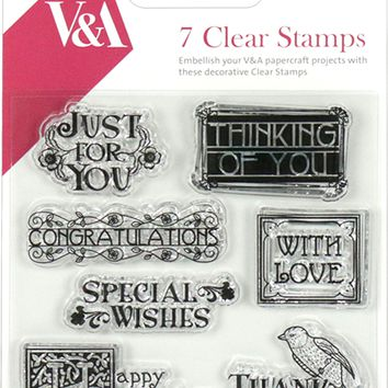 Victoria & Albert Clear Stamps-Sentiment