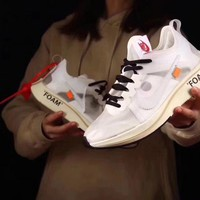 OFF - WHITE × Nike Zoom Fly 4%  Running Shoes