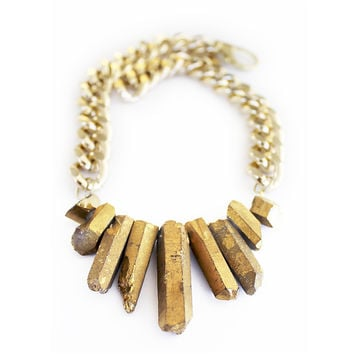 Rocked Up Necklace (Gold)