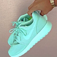 New Custom Teal All Sizes Nike Roshe Runs