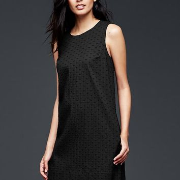 Eyelet Jacquard Shift Dress