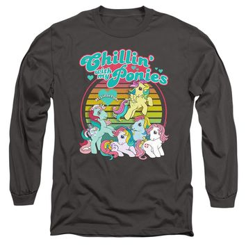 My Little Pony Long Sleeve T-Shirt Chillin with my Ponies Charcoal
