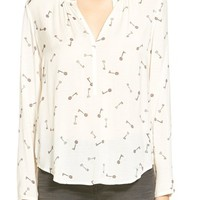 Women's Hinge Split Neck Blouse,
