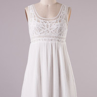 Down By the Sea Dress - Ivory
