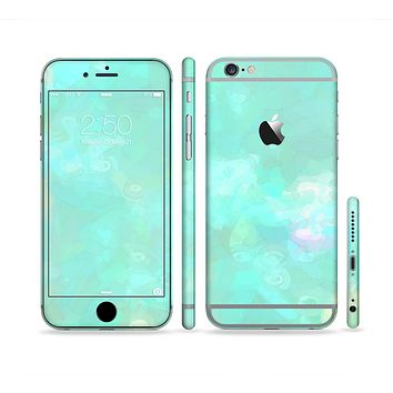 The Bright Teal WaterColor Panel Sectioned Skin Series for the Apple iPhone 6s Plus
