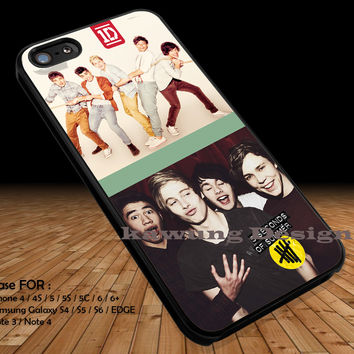 Two Bands Collage iPhone 6s 6 6s+ 5c 5s Cases Samsung Galaxy s5 s6 Edge+ NOTE 5 4 3 #music #1d #5sos DOP2196
